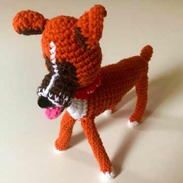 muñecos peluche perro de ganchillo (crochet)