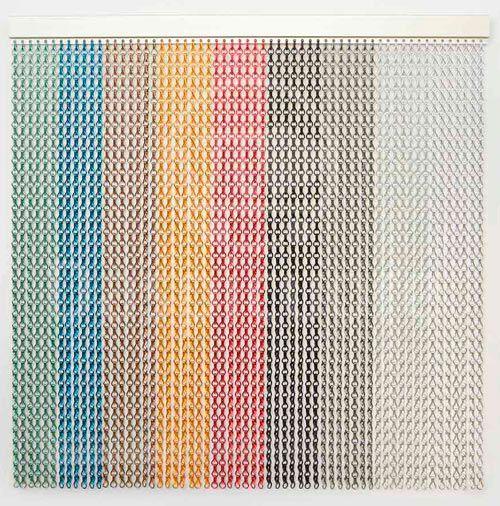 cortina de aluminio de colores
