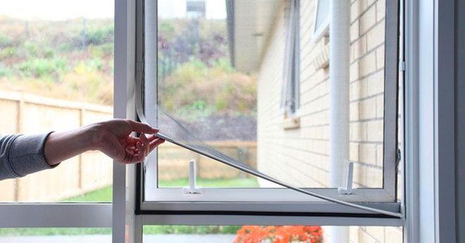 tutorial con instrucciones para instalar una mosquitera en la ventana