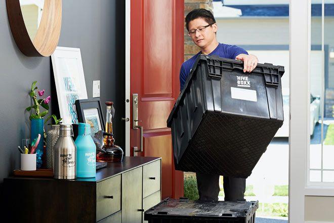 alquilar cajas reutilizables para mudanzas