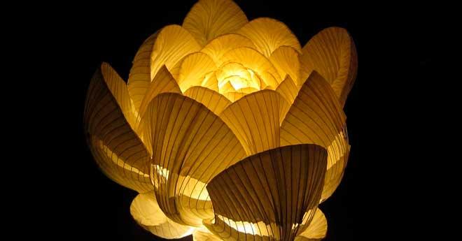 lampara reutilizando globos de papel