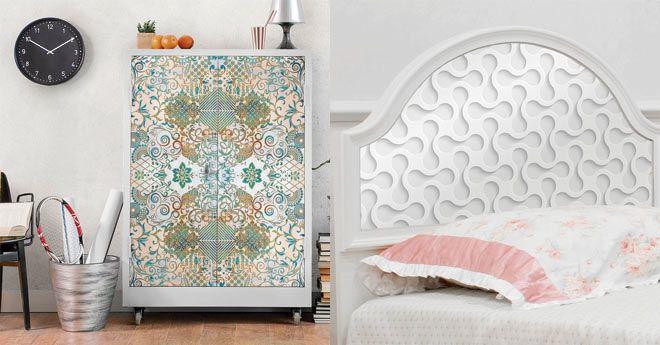 decorar muebles con vinilos adhesivos