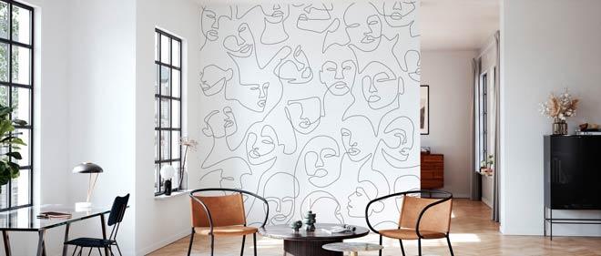 tipos de papel pintado para pared